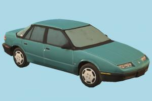 Car car, vehicle, carriage, transport, automobile, sedan, saturn, lowpoly