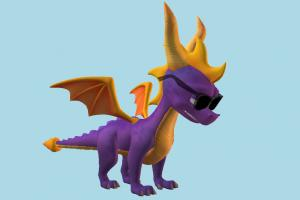 Spyro the Dragon spyro, dragon, monster, animal, animals, cartoon