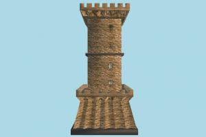 Tower stronghold, castle, tower, building, build, structure
