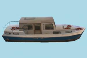 Yacht Boat yacht, boat, sailboat, watercraft, ship, vessel, sail, sea, maritime, lowpoly