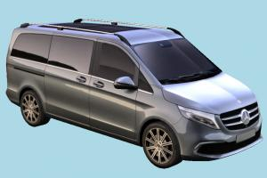 Mercedes-Benz Car mercedes-benz, mercedes, van, car, vehicle, carriage, transport, european, luxury, german, 2019, lowpoly