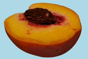 Half Peach fruit, vegetable, food, scanned