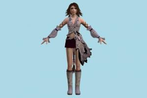 Yuna Kingdom-Hearts, KH, girl, female, woman, people, human, character