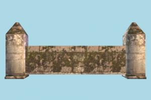 Wall wall, stronghold, castle, tower, build, structure, lowpoly