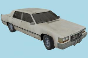 Car Old car, truck, vehicle, transport, carriage, old, low-poly