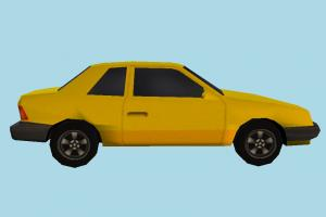 Car Yellow Low-poly car, terminal, truck, vehicle, transport, carriage, red, low-poly
