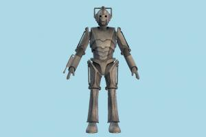 Cyberman Robot robot, mesh, machine, robotic, character, iron, man
