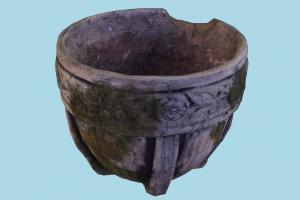 Old Pot pot, plant, garden, ground, rock, object, statue, sculpture