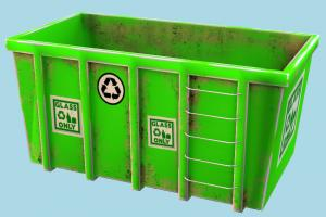 Container container, garbage, trash, can, box, object, green