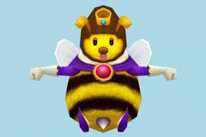 Honey Queen bee, bugs, insects, lowpoly