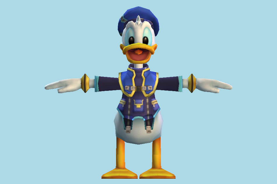 Kingdom Hearts Donald Duck 3d model