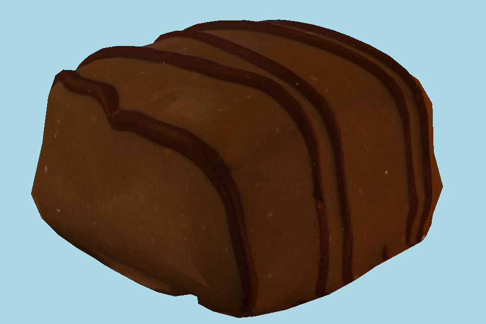Milk Chocolate Caramel 3d model