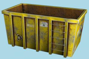 Garbage Container container, garbage, trash, can, box, object, waste
