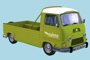 Pickup Van car, vw, vehicle, van, pickup, truck, france, renault, estafette, oldmobil