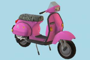 Faggio Motorbike motorbike, bike, motorcycle, vespa, vicecity, faggio, possition, motor, cycle, moto