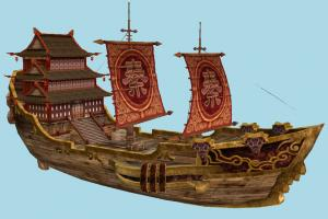 Galleon Ship galleon, pirate-ship, boat, sailboat, pirate, ship, chinese, watercraft, vessel, wooden, maritime