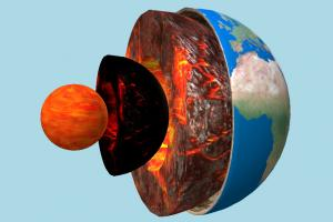 Earth Core earth, globe, lava, core, layers, internal, slicing, study, educational, universe, space