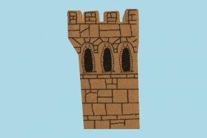 Castle 2D wall, stronghold, castle, tower, build, 2D, structure