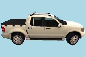 Pickup Car car, pickup, truck, vehicle, van, transport, carriage, ford, white