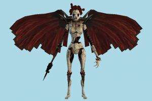 Harpy dragon, animal-character, character, zombie, devil, monster, evil, horror