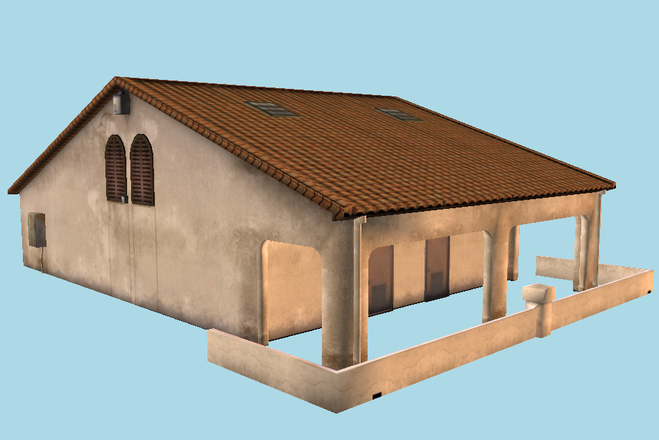 Small House Building 3d model