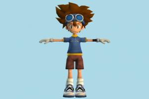 Tai Kamiya Pokemon, Pokémon, Digimon, boy, children, nerd, male, people, human, character, cartoon