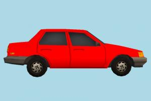 Car Red Low-poly car, terminal, truck, vehicle, transport, carriage, red, low-poly
