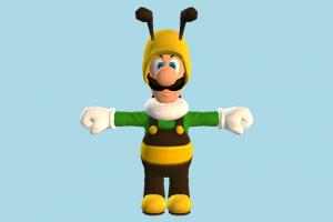Bee Luigi super-mario, mario, bee, animal-character, character, cartoon
