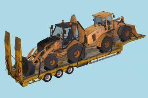 Trailer Tractors tractor, truck, constructor, trailer, vehicle, carriage