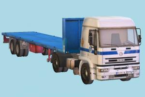 Trailer Truck commercial-truck, truck, trailer, vehicle, car, cargo, carriage, wagon