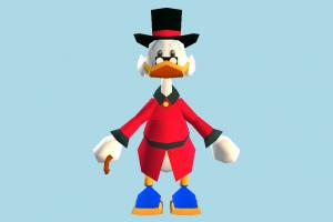 Scrooge McDuck scrooge, uncle-duck, donald, disney, duck, animal-character, character, halloween, cartoon, toony, lowpoly