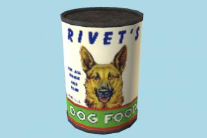 Canned Food canned-food, dog-food, canned, can, food, foods, lowpoly
