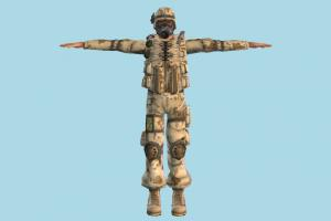 Soldier army-man, counter-strike, soldier, army, man, male, people, human, character