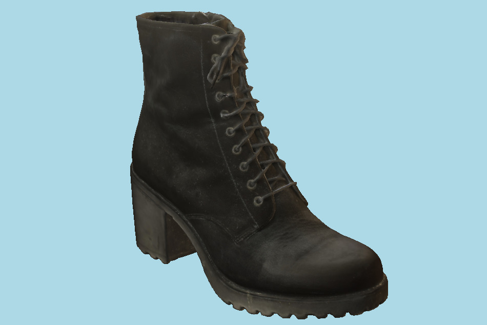 Worn Vagabond Leather Boot for Women 3d model