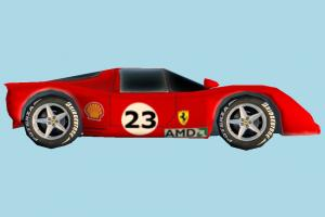 Ferrari Car ferrari, racing, car, race, vehicle, speed, truck, carriage, red, cartoon, low-poly