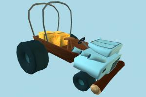 Whack Angus Car Cel Damage, car, toon, vehicle, truck, transport, carriage