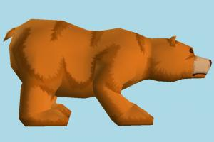 Bear bear, animal, animals, wild, nature, mammal, zoology, cartoon, low-poly