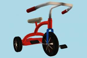 Tricycle tricycle, bicycle, bike, motorcycle, cycle, toy