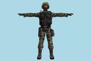 Soldier counter-strike, army-man, army, soldier, man, people, human, character
