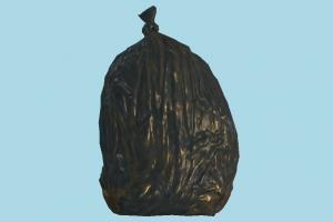 Trash Bag trash, bag, garbage, recycling, recycle, waste, rusty, urban, street, object
