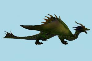 Dragon dinosaur, dragon, monster, animal, animals, jungle, cartoon