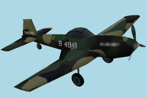 Warplane Lowpoly warplane, military-plane, aircraft, airplane, plane, fighter, combat, military, craft, air, vessel, lowpoly