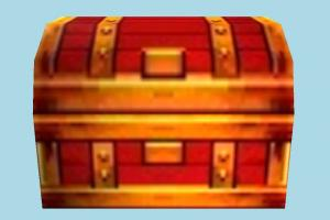Treasure Chest chest, box, crate, crates, case, treasury, lowpoly