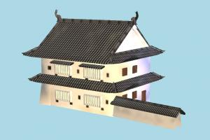House castle, japanese, house, chinese, home, building, build, residence, domicile, structure