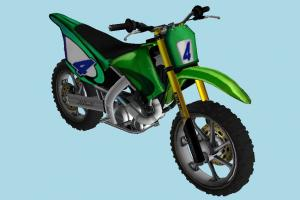 Suzumu Bike motorbike, bike, motorcycle, motorcross, motor, cycle, green