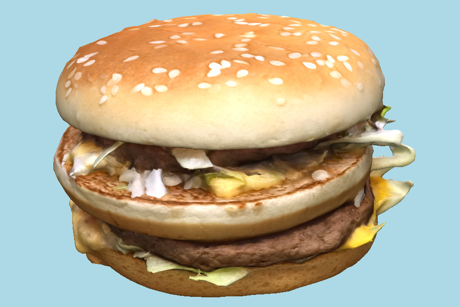 Big Mac Burger Sandwich 3d model