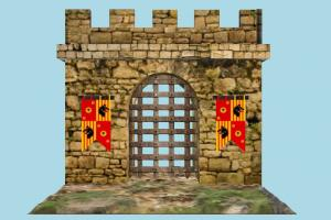 Gate stronghold, gate, castle, tower, build, structure