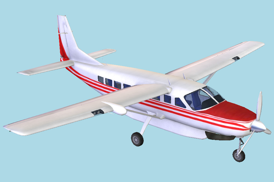 CaravanW Aircraft 3d model