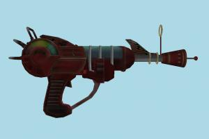 Ray Gun auto-gun, handgun, weapon, gun, firearm, arm