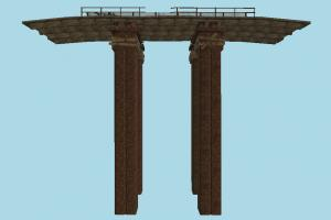 Bridge bridge, wooden, old, railway, rail, build, structure